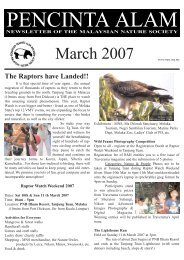 March 2007 - Malaysian Nature Society (MNS)
