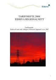 Tariffhefte 2008 (pdf) - Eidsiva Nett AS