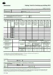 Fradrag i skatt for forskning og utvikling RF-1053B ... - Skatteetaten
