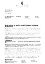Klage på vedtak om avslag på begjæring om innsyn i dokumenter ...