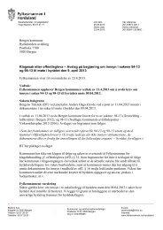 Bergen kommune Byrådsleders avdeling Postboks 7700 5020 ...