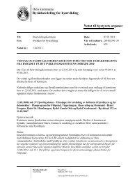 Oslo kommune Byrådsavdeling for byutvikling Notat til bystyrets ...