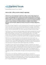 Stø Kurs 2020 – offensiv maritim strategi fra regjeringen ...