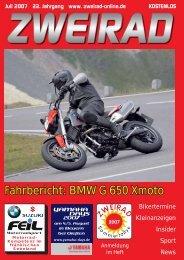Fahrbericht: BMW G 650 Xmoto - ZWEIRAD-online