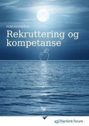 Rekruttering og kompetanse - Maritimt Forum