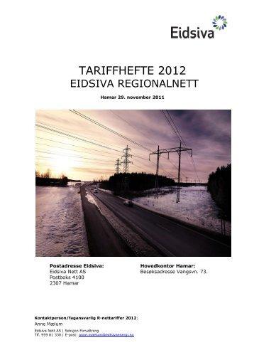 Tariffhefte 2012 (pdf) - Eidsiva Nett AS