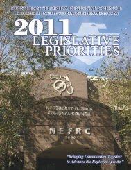 2011 Northeast Florida Regional Council Legislative Priorities