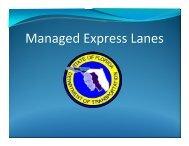 Managed Express Lanes - Northeast Florida Regional Council