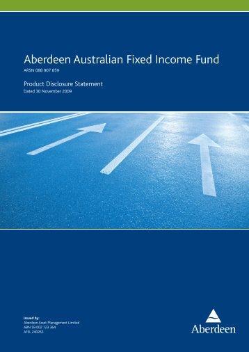 Aberdeen Australian Fixed Income Fund - MLC