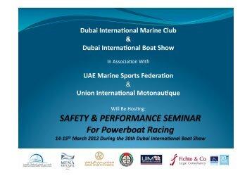 Dubai Interna onal Marine Club & Dubai Interna onal Boat Show