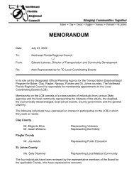 MEMORANDUM - Northeast Florida Regional Council