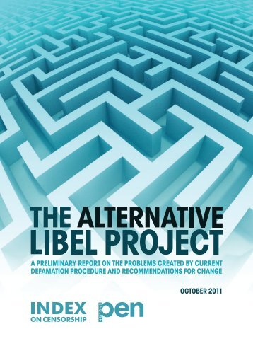 The Alternative Libel Project Preliminary Report was ... - English PEN