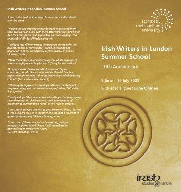 Irish Writers in London Summer School 2005 - English PEN