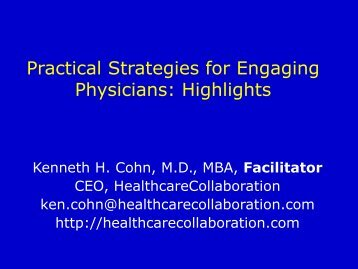 Building a Culture of Collaboration from the Ground Up - Healthcare ...