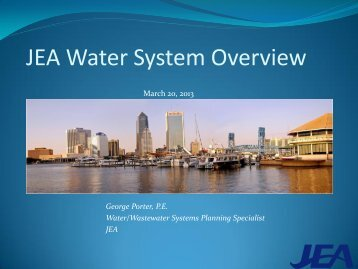 2013 JEA Water Presentation for the Regional Planning Council