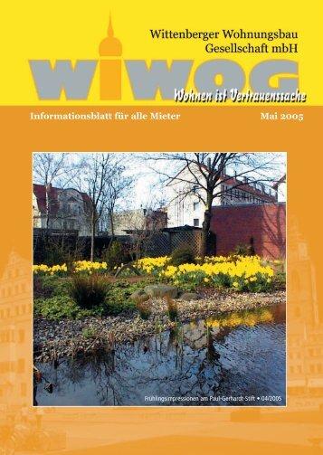 WIWOG-Mieterzeitung | Ausgabe Mai 2005 - Wittenberger ...