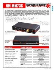 NM-MM73S TriplePlay Stereo Modulator - NetMedia