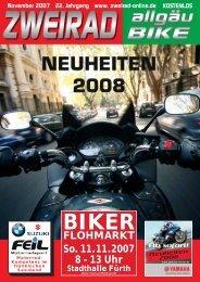 FLOHMARKT So. 11.11.2007 8 - 13 Uhr - ZWEIRAD-online