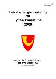 Lokal energiutredning for Løten kommune 2009 - Eidsiva Nett AS