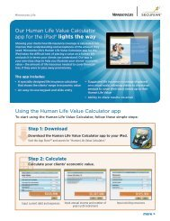 Minnesota Life Human Needs calculator - Shaw American