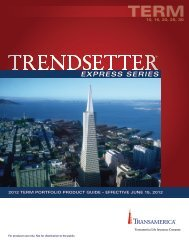 Transamerica Trendsetter Express Series Product ... - Shaw American