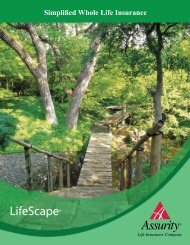 Assurity Simplified Whole Life Insurance ... - Shaw American