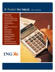 ING E Pocket Tax Tables 2011 and 2012 - Shaw American