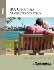 Transamerica Life The IRA Charitable Maximizer ... - Shaw American