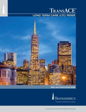 Transamerica TransAce Long Term Care Rider ... - Shaw American