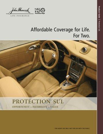 John Hancock Protection SUL Affordable ... - Shaw American