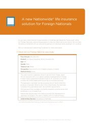 A new Nationwide® life insurance solution for ... - Shaw American