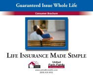 Guaranteed Issue Whole Life - Shaw American