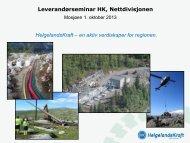 Kommende prosjekter Helgelandskraft-NETT v