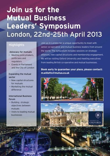 Join us for the Mutual Business Leaders' Symposium - Mutuo