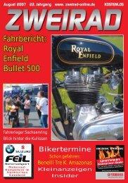 Fahrbericht: Royal Enfield Bullet 500 - ZWEIRAD-online