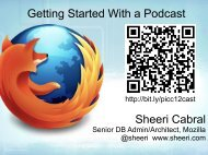 Getting Started With a Podcast Sheeri Cabral