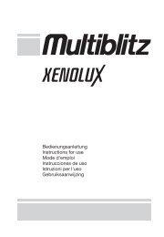 Bedienungsanleitung Instructions for use Mode d'emploi - Multiblitz