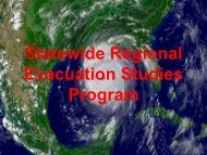 Statewide Regional Evacuation Studies Program