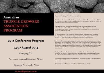 2013 Conference Program - Australian Truffle Growers Association