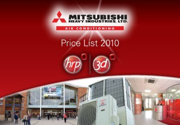 Price List 2010 - 3D Air Sales Ltd.