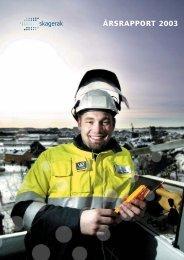 Last ned Skagerak Energis årsrapport 2003 - Skagerak Energi AS