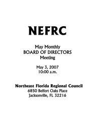 Agenda - Northeast Florida Regional Council