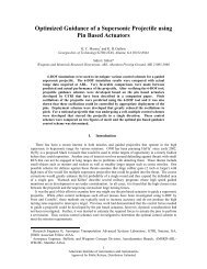 Optimized Guidance of a Supersonic Projectile using Pin Based ...