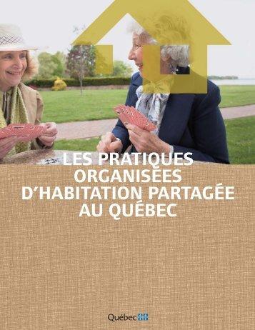 Les pratiques organisées d'habitation partagée au Québec