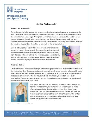 Cervical Radiculopathy - South Shore Hospital
