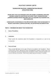 Foundation Application Form - Helm Trust Company Limited