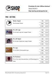 Preisliste für den Offline-Verkauf Stand 05/2013 http://pshop ...