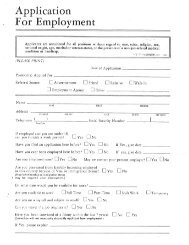 Application For Employment - Anaconda-Deer Lodge County