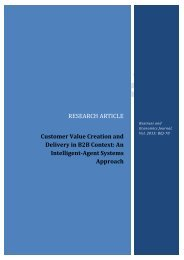 Customer Value Creation and Delivery in B2B Context - AstonJournals