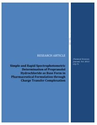 Simple and Rapid Spectrophotometric ... - AstonJournals